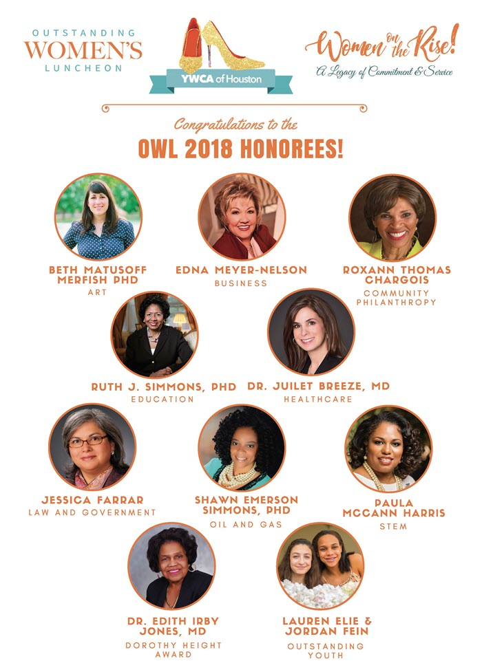 image of OWL 2018 honorees