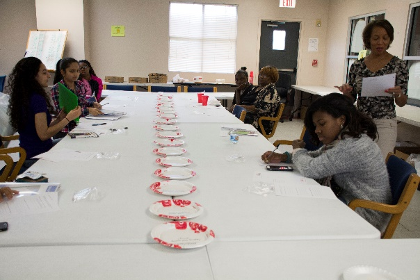 Young Women's Leadership Council at table