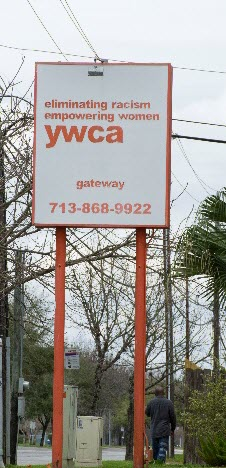 Image of YWCA Houston business sign